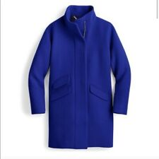 J. Crew Italian Stadium Cloth Blue Wool Coat
