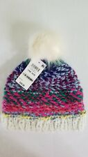 c459d922 Inc International Concepts multi color faux fur pompom knit beanie hat