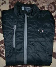 CHARLES RIVER APPAREL Quilted Golf Jacket THE STANWICH CLUB Sz XL Black TOP 100