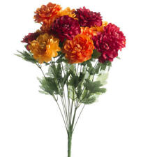 Brightly Colored Artificial Zinnia Floral Bush