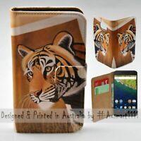 For Google Pixel Series Tiger Safari Theme Print Wallet Mobile Phone Case Cover