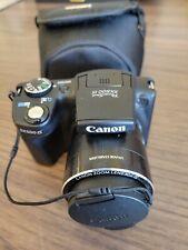 Canon PowerShot SX500 IS 16.0MP Digital Camera - Black, has Case needs battery
