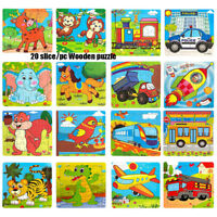 Animals Wooden 20 Pieces Colorful Jigsaw Puzzle Educational Toy For Toddler Kid~