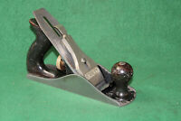 FINE Stanley Bailey No 4 Type 17 Made in USA Smooth Woodworking Plane Inv#JB04