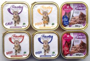 Katzenfutter Pastete/Ragout verschiedene Sorten 192 x 100g