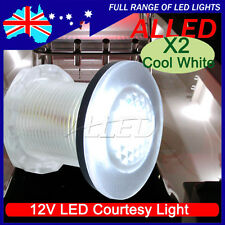 2X Waterproof LED Courtesy Light Cool White Livewell Tank Boat Stair Garden Lamp