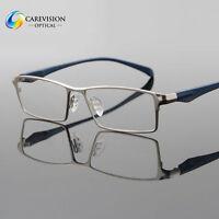 Men Fashion Titanium Full Rim Myopia Eyeglasses Frames Optical Eyewear RX Able