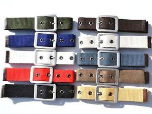 """AU Unisex Man Woman Pin Metal Buckle Canvas Belt Multi Color Size 29""""-36"""" B02"""