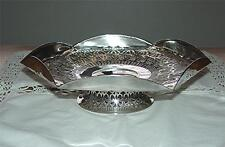 RARE TO FIND ANTIQUE E & J B SHEFFIELD SILVERPLATE ORNATE FILIGREE PEDESTAL TRAY