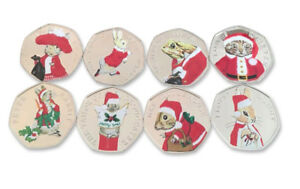 Christmas Sets Of Beatrix Potter 50p coins Collectable 2017-18