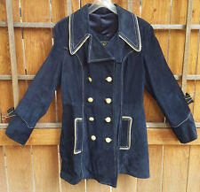 Vintage Learsi Leather Riding Jacket-16-Blue Leather-Made in Uruguay-Fantastic..