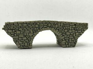 N SCALE BRIDGE SINGLE ARCH STONE MODEL BRIDGE LASER ENGRAVED N GAUGE BRIDGE