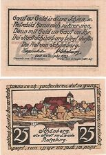 Alemania 25 Pfennig 1923 Notgeld Schonberg UNC Uncirculated banknote