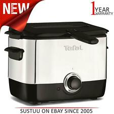 Tefal 150°C to 190°C Adjustable Thermostat Deep Mini Fryer│Black│FF220040