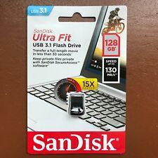 NEW SanDisk 128GB Ultra Fit High Speed USB 3.1 Memory Stick Flash Drive 130MBs
