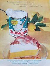 1964 Snowdrift Premium Shortening Baking Cooking Pie Original Food Ad
