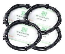 4x Set Profi DJ PA Mikrofon Kabel 2,5m Mic Patch Cable XLR Male Female schwarz
