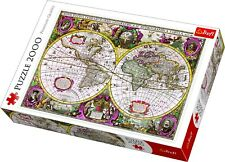 Trefl 2000 Piece Large Bridgeman Art Map Of Entire Earth 1630 Jigsaw Puzzle NEW
