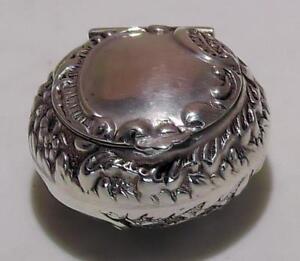 Silver Repousse Levi & Salaman Circular Bill Box dates 1900