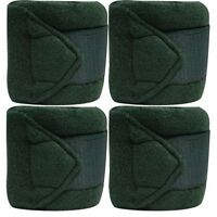 HUNTER GREEN Fleece Polo/Leg Wraps Set of Four!! NEW HORSE TACK!!