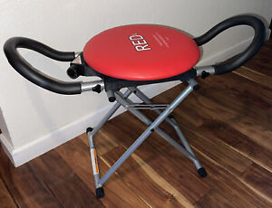 Red XL Fitness Abdominal Exercise Chair Core Resistance Rotation AB Body Fitness