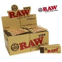 RAW Original Natural Unrefined Tips 50 Booklets (50 Tips per Pack) FULL BOX
