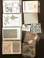 Assorted  Clear Acrylic Stamps Lot Scrapbook