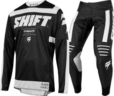 2019 Shift 3lack Strike Motocross Kit Combo - Black 38/XXL