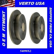 Set Of 2 Rear Disc Brake Rotors- Verto USA 54090X2 Fit Ford , Lincoln,  5 Lugs