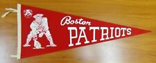 "Vintage Original 1960's Boston Patriots Football Pennant 29"""