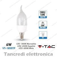 Lampadina led V-TAC 6W = 40W E14 VT-1855TP fiamma attacco piccolo smd VTAC