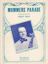 MUMMER'S PARADE Music Sheet-1948-PHILADELPHIA/PA-BUDDY WILLIAMS/SAX-NEW YEAR'S