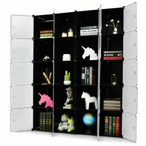 Modern & Durable DIY 20 Cube Portable Closet Wardrobe Cabinet