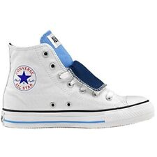 Converse All Star CT Double Tongue White Navy Blue Canvas High Top Trainers Sz 9