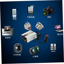 200W USB 24V DC to AC 220V Car Auto Vehicle Power Inverter Adapter Converter TT