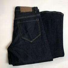 allsaints womens size 27 flare fit jeans raw indigo