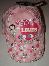bnwt betty boop pink baseball sun cap hat adjustable 7-13 yrs