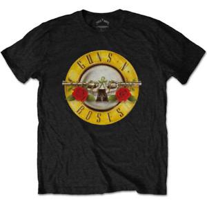 Guns N Roses Bullet Logo Men's Black T-Shirt Official Licensed Size S M L XL 2XL