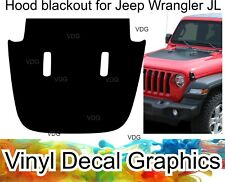 New HOOD decal Blackout for 2018-up Jeep Wrangler JL JLU vinyl decal graphics