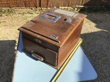 Ancienne caisse enregistreuse Commerce en bois industriel Deco Vintage