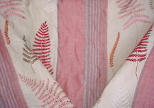 16+Y COWTAN TOUT OAKMONT EMBROIDERED FERN LEAF LINEN DRAPERY UPHOLSTERY FABRIC