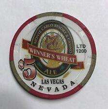Monte Carlo Resort Las Vegas $5 Winner's Wheat Ale Casino Chip