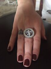 Anello in argento 925 cammeo CZ angelo sardonico ring cameo angel Made in Italy