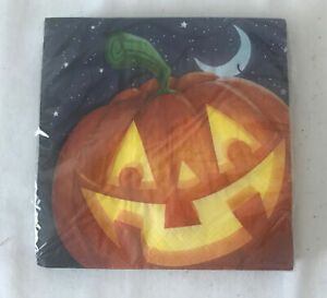 Halloween 2 Ply Luncheon Napkins Jack O Lantern Pumpkin 16 Count Spooky