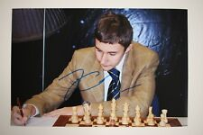 Gm sergey Kariakin signed 20x30cm foto autógrafo Autograph ip1 Grandmaster Chess