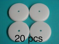 """20 Natural Nylon White 1 3/4"""" Table Glides Disk Snap on Caps Slide Foot Pad 726"""