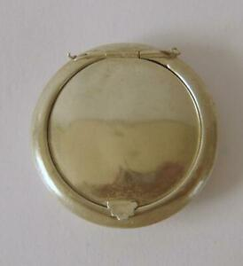 A Ladies Antique Sterling Silver Small Powder Compact A/F Birmingham 1917