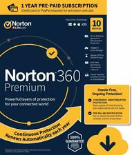Symantec Norton 360 Premium Antivirus Software For 10 Devices (PC/Mac/Android)