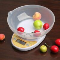 5kg/1g 1kg/0.1g Digital Kitchen Scale Food Diet Postal Scales Weighting Bowl New