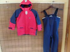 GILL MARINE JUNIOR YACHTING JACKET & PANTS  SET   junior size: 8/9  Red & blue
